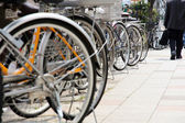 Lot of Bicycles parking — Stock Photo