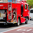 Fire engine in tokyo japan — Stock Photo