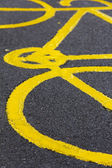 Bicycle Sign on the Ground — Stock fotografie