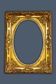 Vintage picture frame, gold plated — Stock Photo