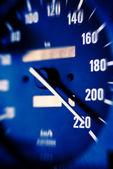 Speedometer scoring high speed — Stock Photo