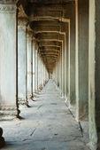 Ancient corridor Angkor Wat Cambodia — Stock Photo