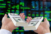 Concept image of stock exchange — Stock Photo