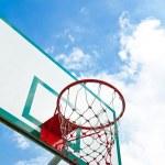 Outdoor basketball hoop — Stock Photo #50720435