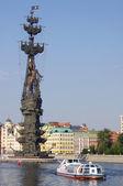 Peter o grande monumento em moscou, rússia — Foto Stock