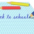 Royalty-Free Stock Vector Image: Back to school caption with pencils