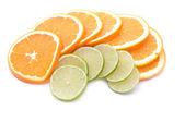 Lime and orange slices — Foto de Stock