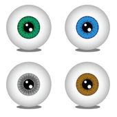 Eye balls in different colors — Stock Vector