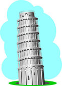 Pisa tower, vector — Stock Vector
