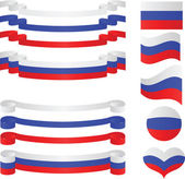 Set of russian ribbons in flag colors. — Stock Vector