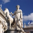 Statue at Campidoglio in Rome — Stock Photo