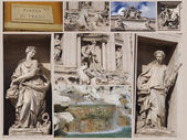 Trevi Fountain collage, Rome, Italy. — Stock Photo