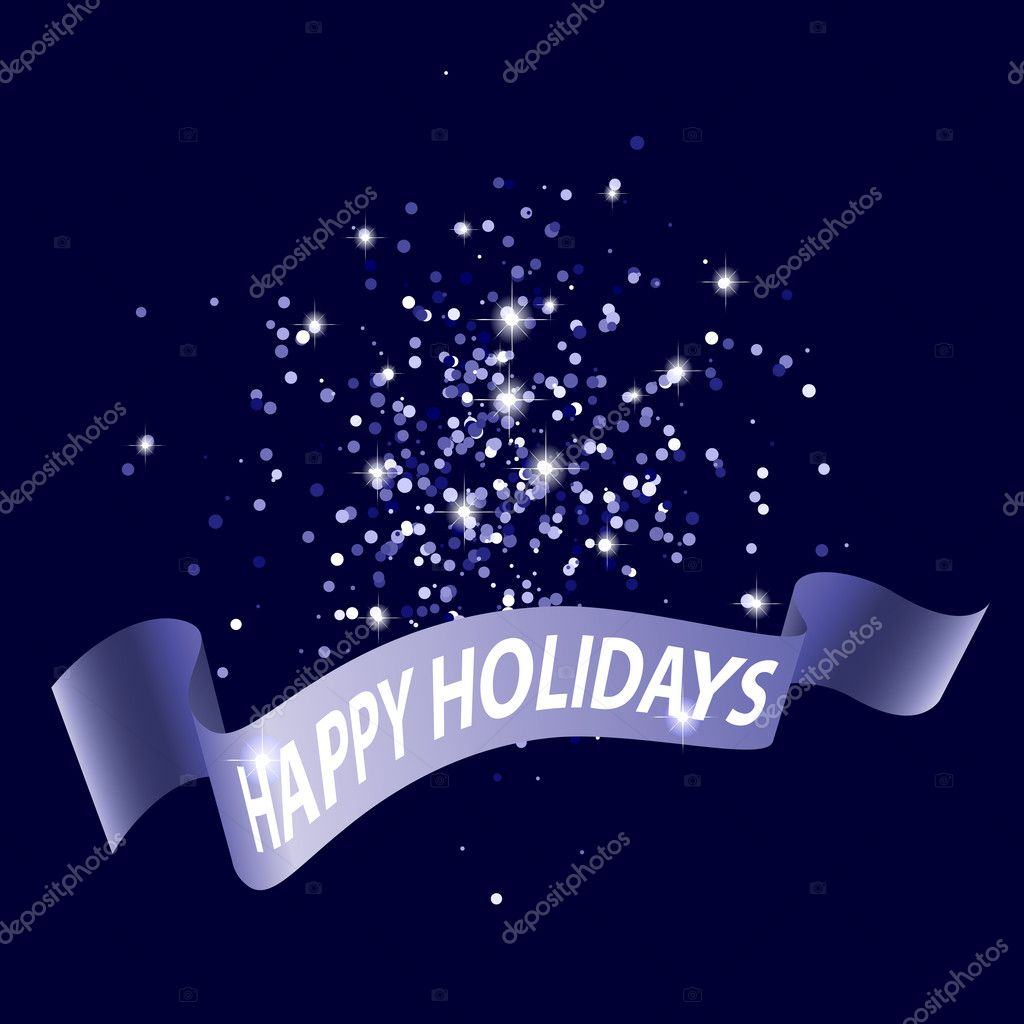 Happy Holidays dark blue abstract background, vector illustration — Stock Vector #14197585