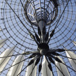 Futuristic roof, Potsdamer Platz, Berlin, Germany. - Stock Photo