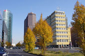 BERLIN, GERMANY - OCTOBER 20: The Potsdamer Platz in Berlin, Ger — 图库照片