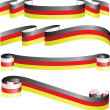 German ribbons isolated on white — Stock Vector