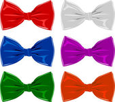 Collection of bow ties, isolated on white — Stock Vector