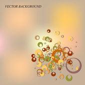 Resumen antecedentes con círculos — Vector de stock
