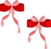 红色矢量弓上白色隔离 — 图库矢量图片