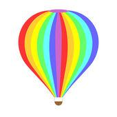 七彩气球上白色隔离 — 图库矢量图片