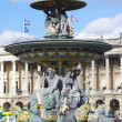 Famous Fountain, Place de la Concorde in Paris — Stock Photo