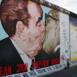 BERLIN - OCTOBER 19, 2012: Kiss between Brezhnev and Honecker — Stock Photo