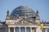 The roof of Reichstag building in Berlin — Stock Photo