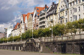 Colorful houses in Dusseldorf — Stock Photo
