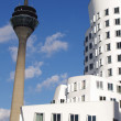 Stock Photo: White building and TV tower in Dusseldorf