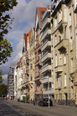 Row of colorful houses in Dusseldorf — Stock Photo