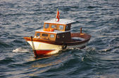 Small fishing boat in the Marmara Sea — Stock fotografie