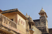 Buildings of Amber Fort in Jaipur — Stock Photo