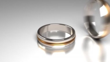 Wedding rings — Vídeo Stock