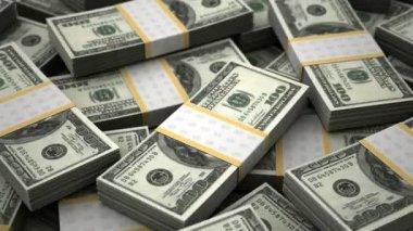 Billion Dollars Background — Stock Video