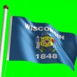 Wisconsin flag — Stock Video #13914940