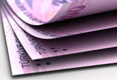 Turkish Lira Close-Up — Stock Photo