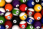 Poolball Background — Stock Photo