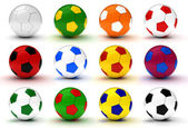 Colorfull Soccer Balls — Stock Photo