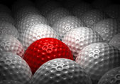 Different Golf Ball — Stock Photo