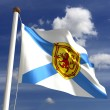 Nova Scotia flag Canada - Stock Photo