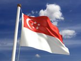 Singapore flag — Stock Photo