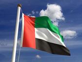 United Arab Emirates flag — Stock Photo