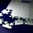 Stock Photo: Incomplete Euro Puzzle