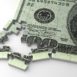 Stock Photo: Incomplete Dollar Puzzle