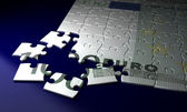 Incomplete Euro Puzzle — Stock Photo