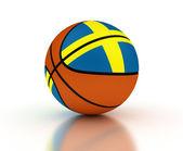 瑞典篮球队 — 图库照片