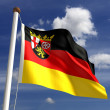 Rhineland-Palatinate flag Germany — Stock Photo