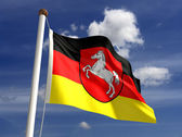 Lower Saxon flag Germany — Stock Photo