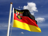 Rhineland-Palatinate flag Germany — Stock Photo