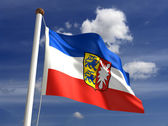 Schleswig flag Germany — Stock Photo